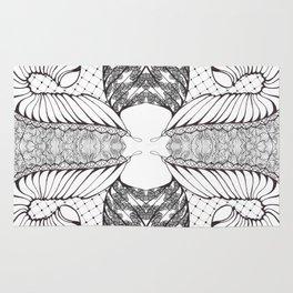 Black and White Zen Doodle 4 Rug