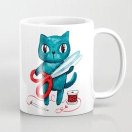 Sewing cat Coffee Mug