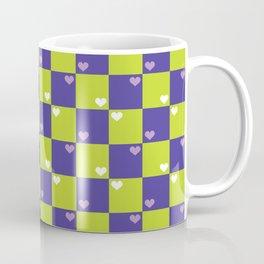 Purple Green Checkers Coffee Mug