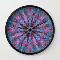 stickers Wall Clocks featuring Escapism  by micklyn