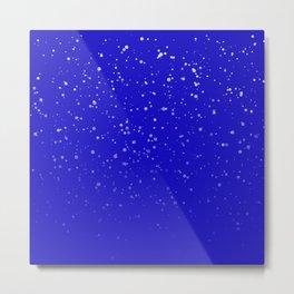Effet neige bleu roi Metal Print