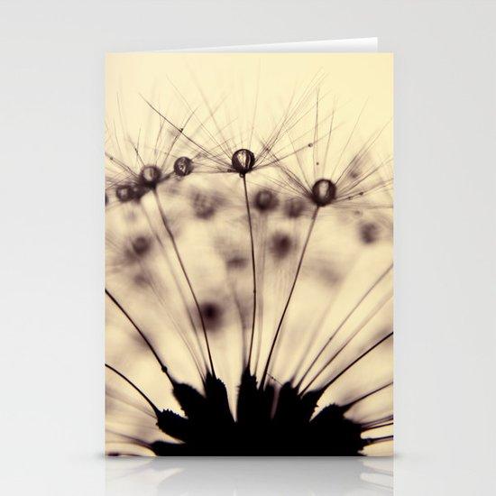 dandelion - droplets of mocha Stationery Cards