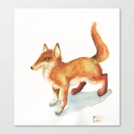 Foxy Fox Trot Canvas Print