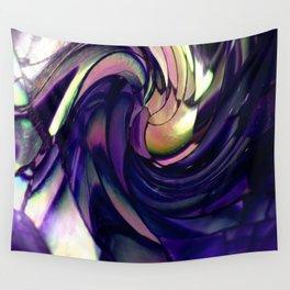 blue Paua spiral Wall Tapestry
