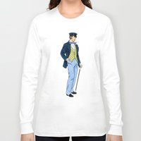 hipster Long Sleeve T-shirts featuring Hipster by Tom Tierney Studios
