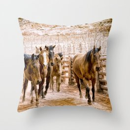 Stampede Throw Pillow