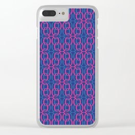 Aesthetic Spring / The Q Pattern 2 Clear iPhone Case
