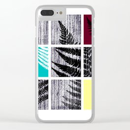 Square Fern Clear iPhone Case