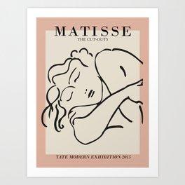 Matisse Sleeping Woman Sketch Art Print