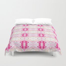 Minty Rose (Abstract Painting) Duvet Cover