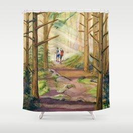 Walk Into The Light Shower Curtain