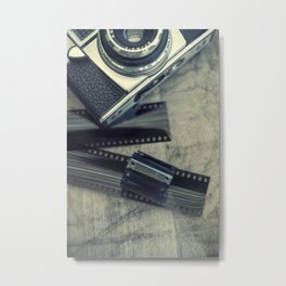 Vintage Camera and Film IV Metal Print