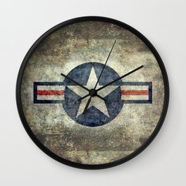 US Air force style insignia V2 Wall Clock