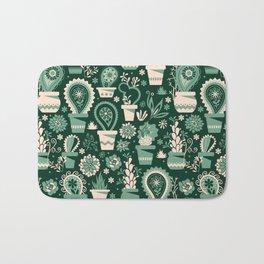 Paisley succulents Bath Mat