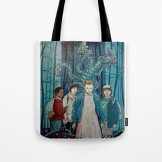 Stranger Things artwork painting Tote Bag