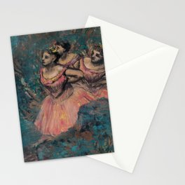 Three Dancers in Red Costume Stationery Cards