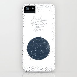 more than all the stars iPhone Case