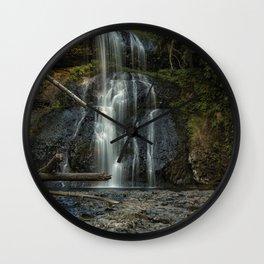 Upper North Falls, Late Summer, Vertical Wall Clock