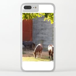 Down at the farm Clear iPhone Case