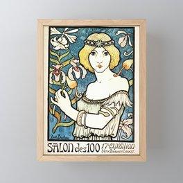 Paul Berthon Salon Des Cent Vintage Art Nouveau Framed Mini Art Print