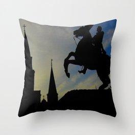 Landmark Silhouettes in Casa de Armas Throw Pillow