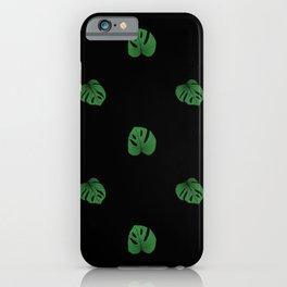 Monstera (Mini) - Black iPhone Case