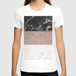 Marble stripes - Deauville rose gold T-shirt