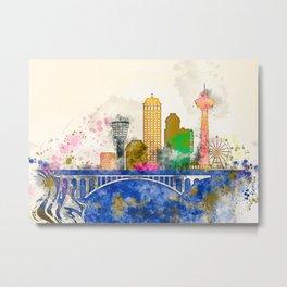 Niagara Falls City Skyline Metal Print