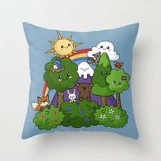 Wilderness Cuteness Throw Pillow