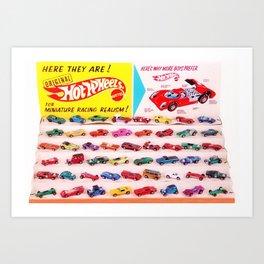 1970's Original Hot Wheels Redline Toy Department Store Display Poster Art Print