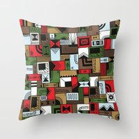 home alone Throw Pillows featuring Not Home Alone by Nick Villalva