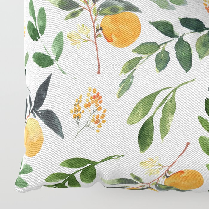 Orange Grove Floor Pillow