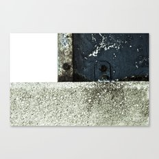 White Blue Concrete Canvas Print