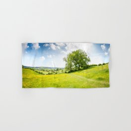 Idyllic Cotswold Summer Landscape Hand & Bath Towel