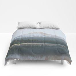 Trillium Lake Sunrise - Nature Photography Comforters