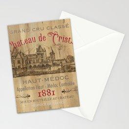Barrel Wine Label 1 Stationery Cards