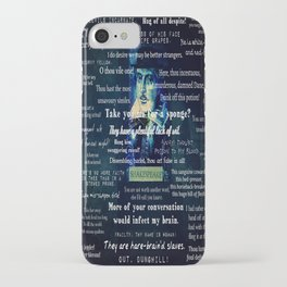 Shakespeare insults collection quotes  iPhone Case