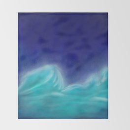The Sea Who Loved the Sky Throw Blanket