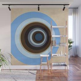 blue and brown circles Wall Mural
