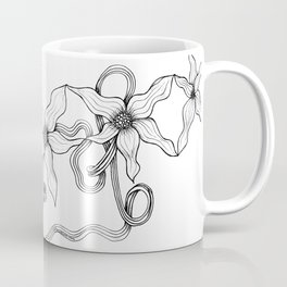 Huia Art Clematis Ribbon Coffee Mug