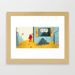 Little Red Riding Hood - Pg 3 Framed Art Print