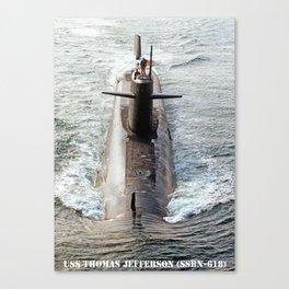 USS THOMAS JEFFERSON (SSBN-618) Canvas Print