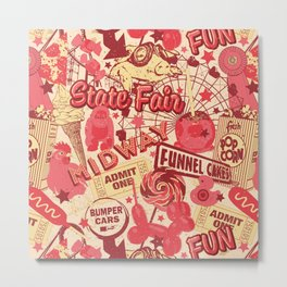 Retro Red State Fair Metal Print