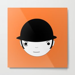 Clocky orange Metal Print