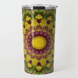 Spring Flowers Mandala Travel Mug