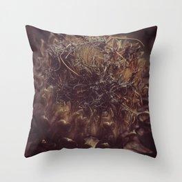 Dead Flower Throw Pillow