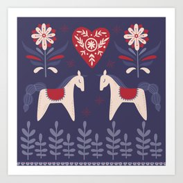 Swedish Christmas Art Print