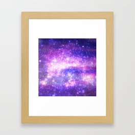 Purple Pastel Stars Framed Art Print