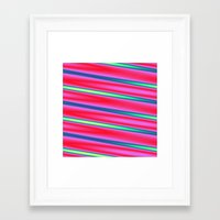 striped Framed Art Prints featuring Striped by Angelandspot