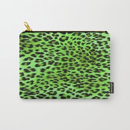 Green Tones Leopard Skin Camouflage Pattern Carry-All Pouch
